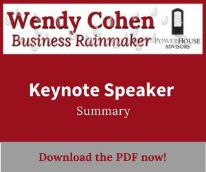 Keynote Speaker Wendy Cohen